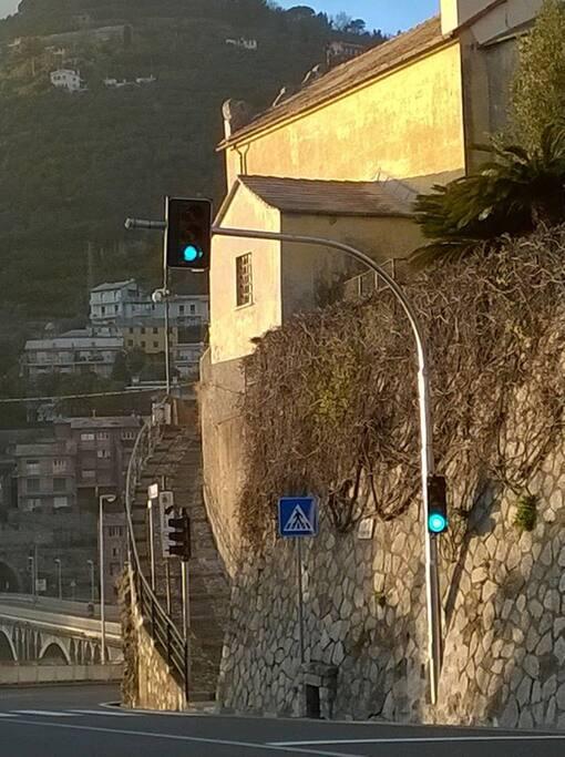 Salita dalla Via Aurelia a Via Dante Alighieri