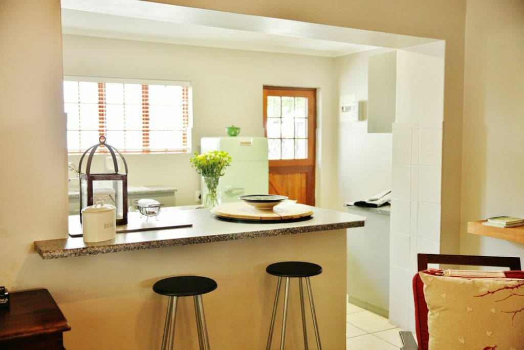 Open plan kitchen with laundry