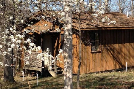 Sage Cabin at yoga retreat center.