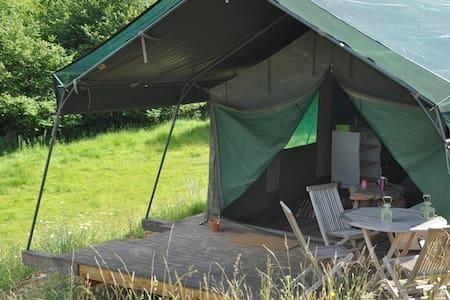 Tente safari au creux d'un vallon - Fatouville-Grestain