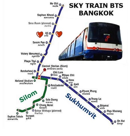 BTS route map.