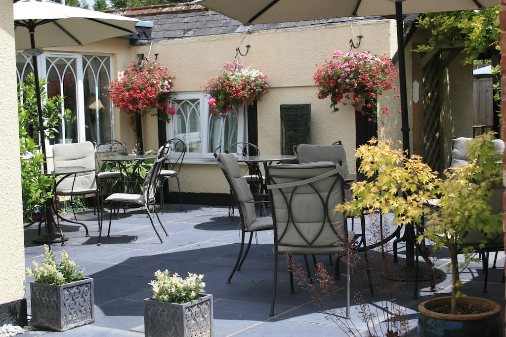 Dine or relax alfresco