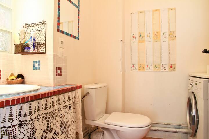 WC + machines à laver et à sécher
