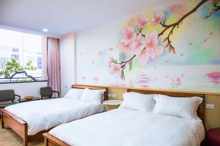 安平,雅樂,落櫻四人套房 - Anping District - Bed & Breakfast