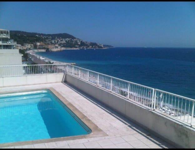 STUDIO prom des anglais,2 piscines - Nicea - Apartament