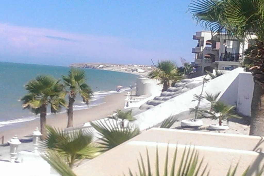 View from our beach access stairs which are about 30ft from CASA MAR VISTA