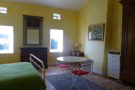 Suite avec chambre 30m2 , salle de bain, wc privés - Noaillan