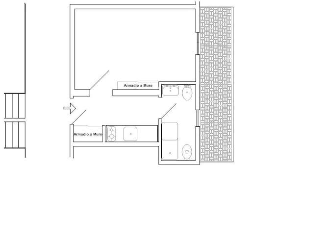 Miniappartamento Arredato tre posti