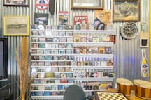 A collection of old movies and DVD music.