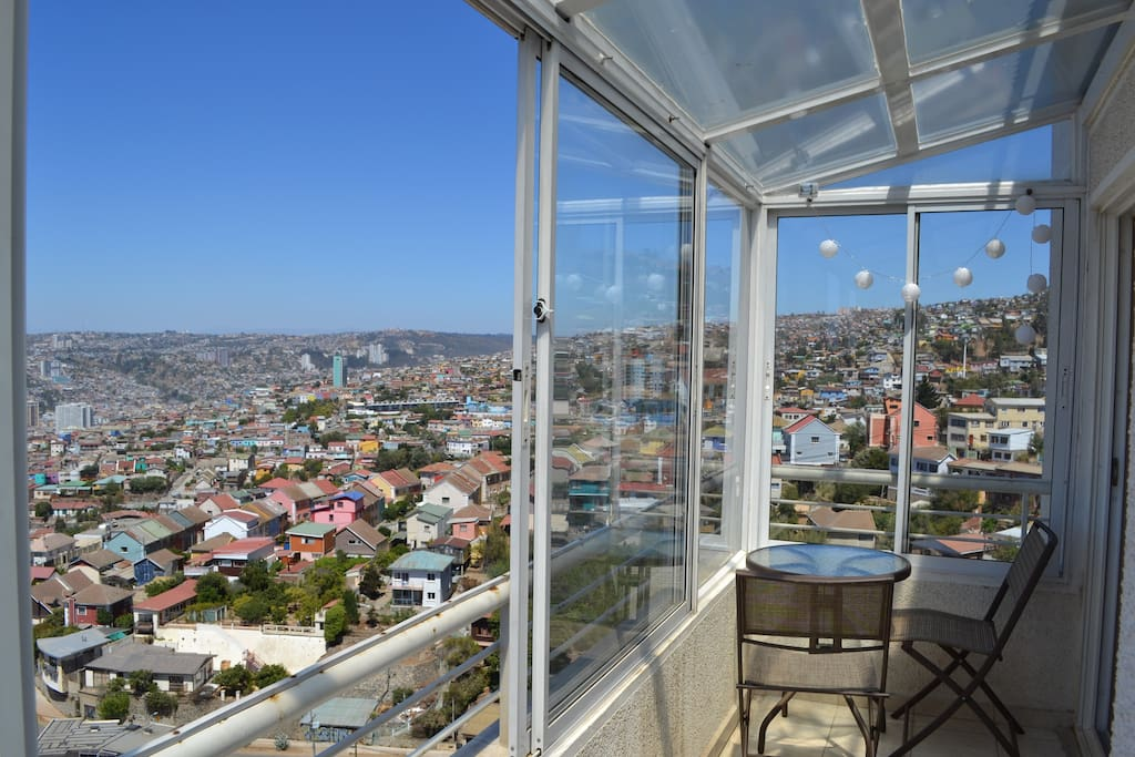 Your room opens out onto the balcony, with stunning views!