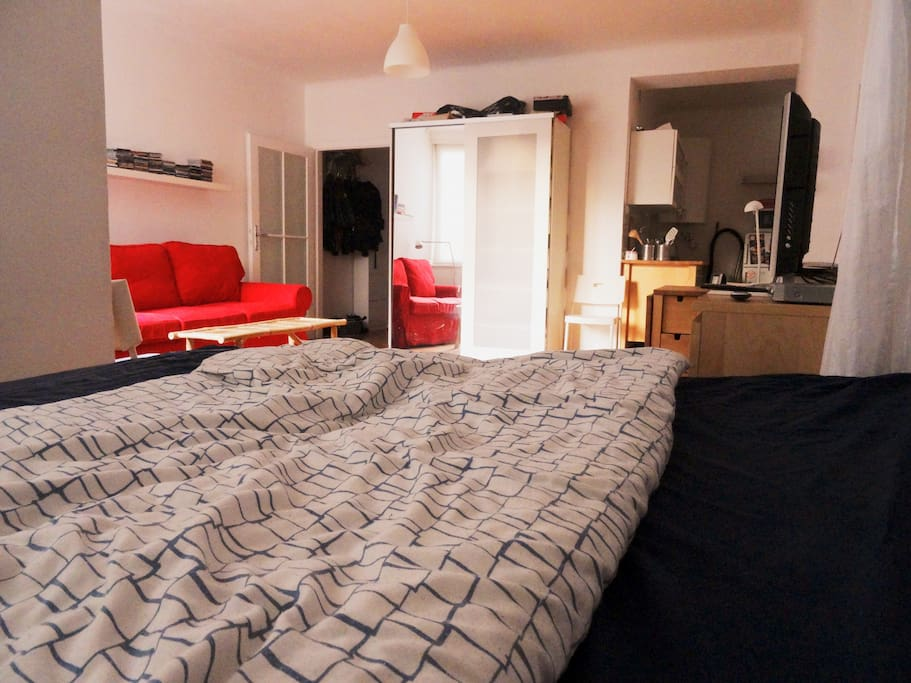 Studio/ Bed/ Couch/ TV / Living and Bedroom