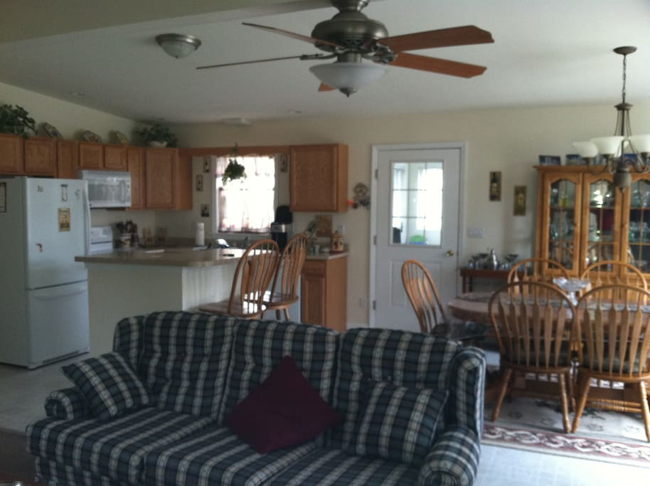 Family Room, Kitchen and Dining Room