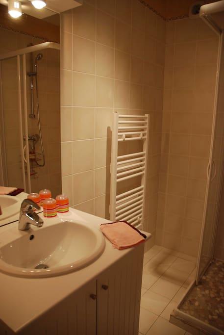 salle de bains Gamay avec douche