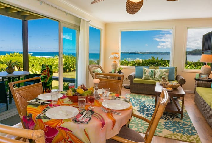 Hanalei Colony Resort I1-Premium oceanfront unit, steps from the sand, 2br/2ba