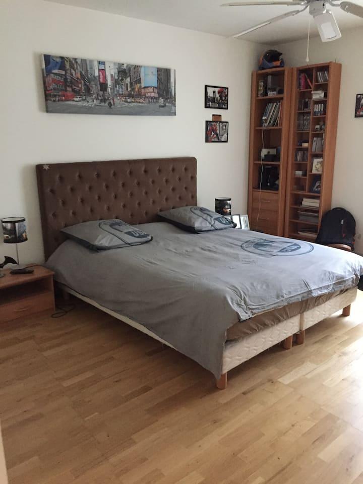 Chambre lit 160 tv et salle de bain