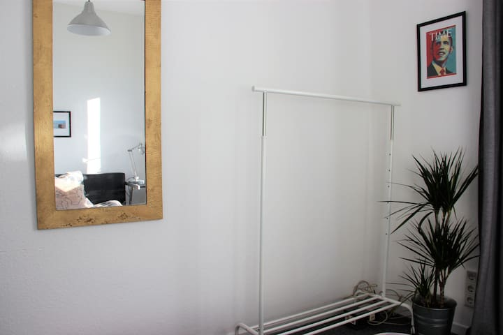 mirror and garderobe