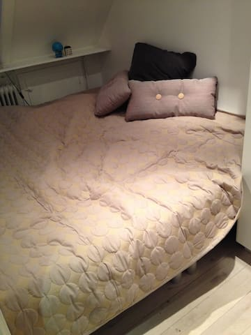 One small bedroom with one big comfortable double bed for 2 persons