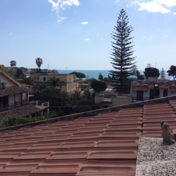 La vista dal terrazzo.
