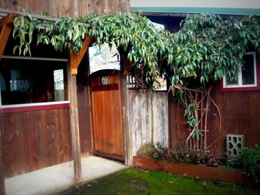 Gate to the back deck and yard