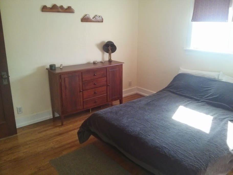 Bedroom number 1 with queen bed