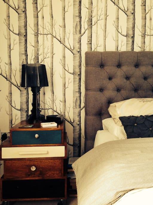 Superking bed in master bedroom