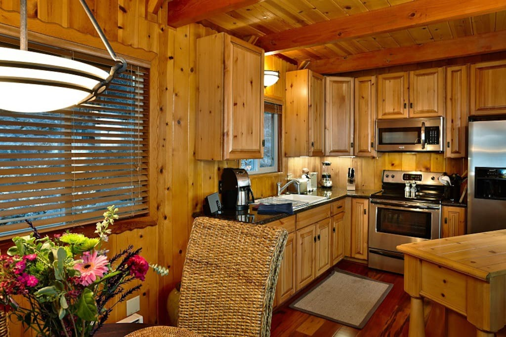 Kitchen opens to the dinning room for easy access and meal planning.