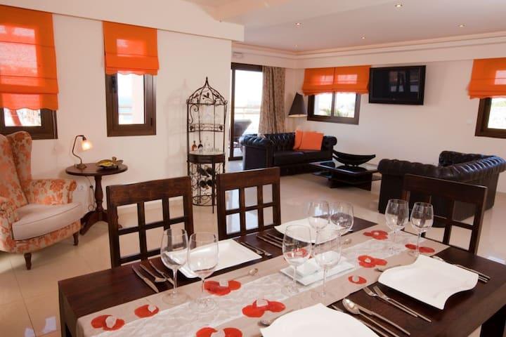 Relaxing 3 BD Villa,Seaview with private Pool (E) - Milatos - Villa