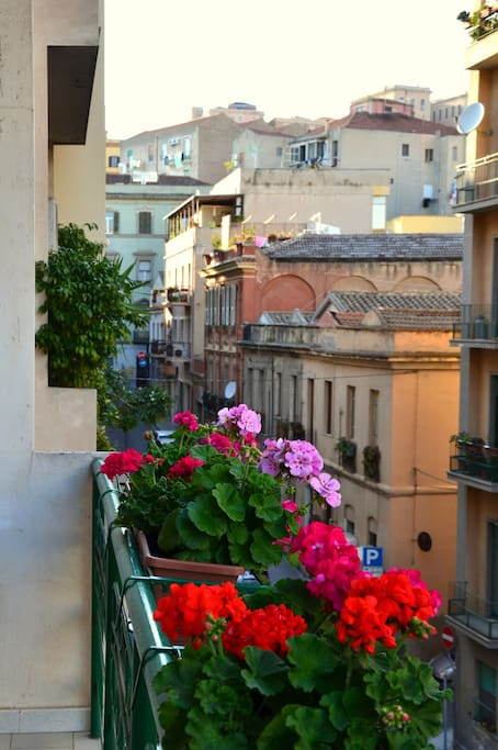 From balcony on via San Lucifero (outside of living room and twin bedroom)