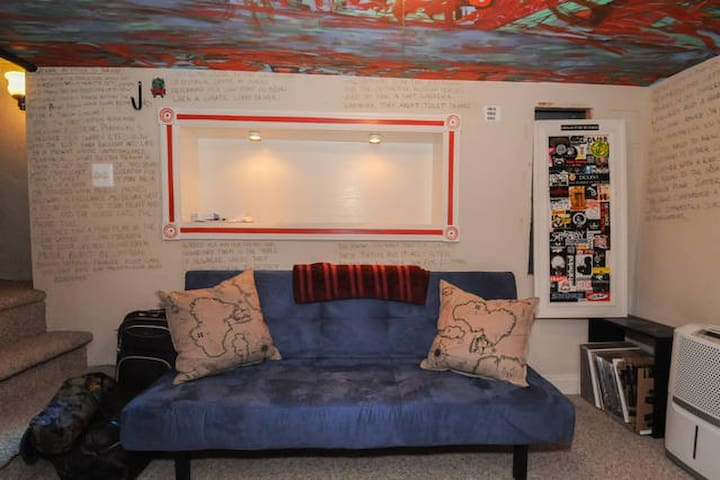 Our basement hang out space