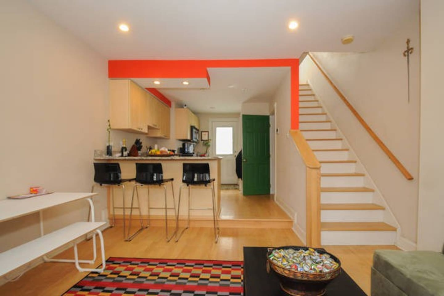 Welcome to your home! It's quirky and theres a lot of colors!