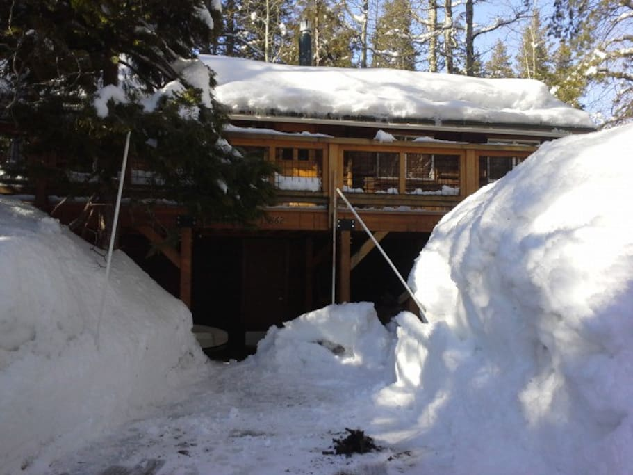 Sometimes we get a lot of snow, good for skiing
