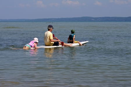 Directly on West Grand Traverse Bay, close to TC