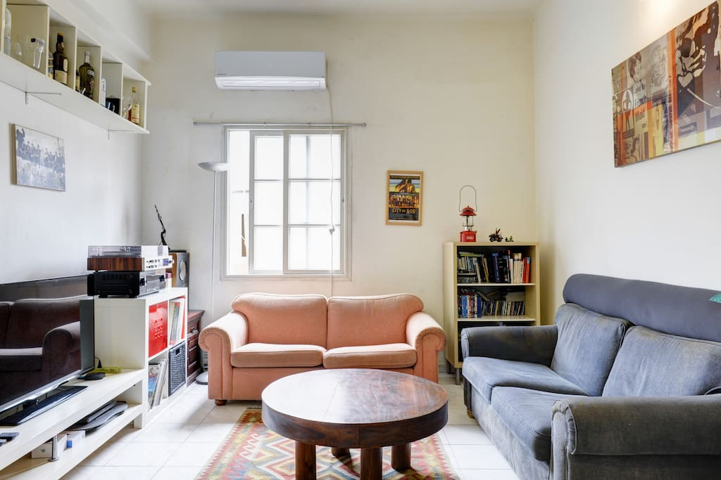 A wide and comfortable living room