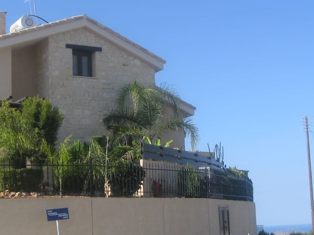 the right site of the villa with mountain and sea view