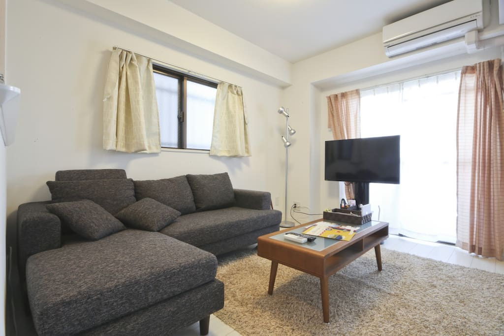Relax in the living/在客厅放松/とてもリラックスできるリビングです
