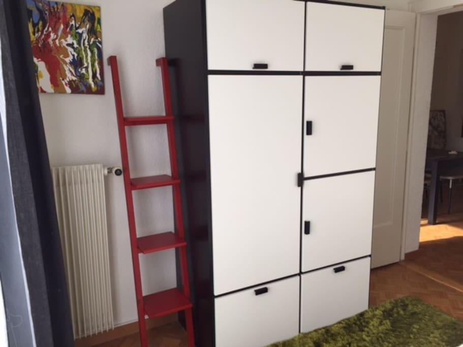 Large wardrobe and bookslef