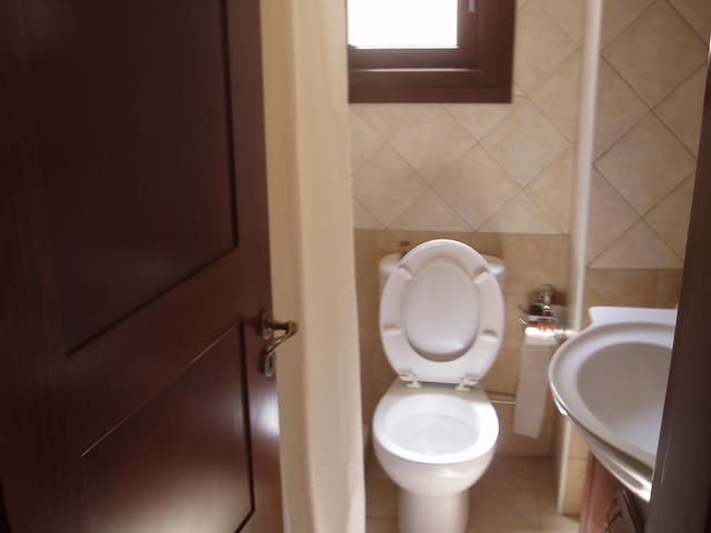 toilet and shower en suit with master bedroom 1