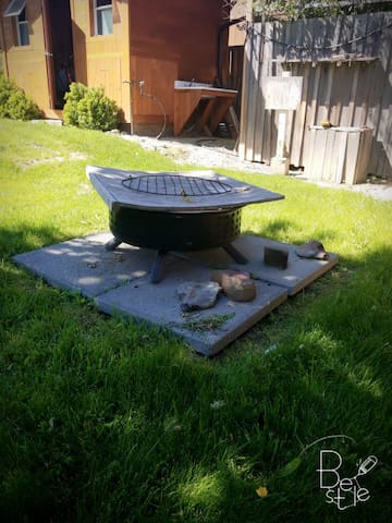 fire pit for late night marshmellow roasts