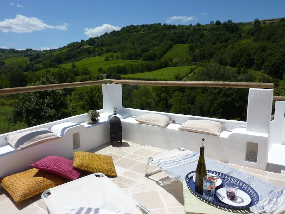 The upper terrace - ideal for sunbathing and a good book