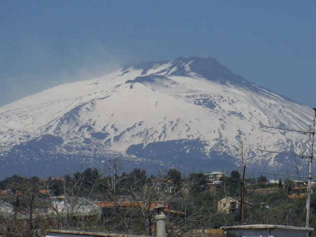 Cosy penthouse overlooking Etna - Catania - Podkroví