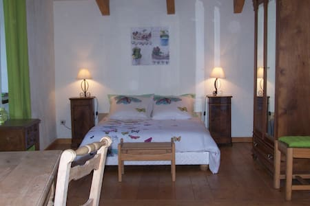 Chambre Papillon suite parentale - MARCOLS LES EAUX - Bed & Breakfast