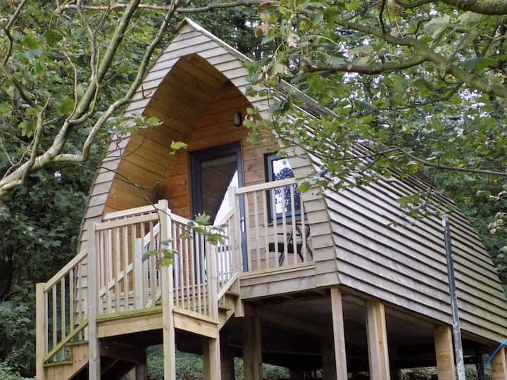 Luxury Woodland Glamping Pod Heaves Wood - Tahn