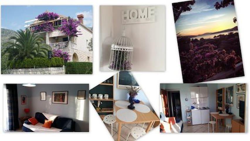 VillaDube-Sunny seaview Apt/Terrace - Slano - House