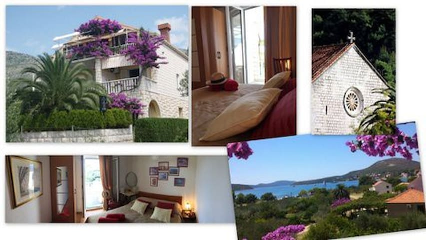 VillaDube-Romantic SeaView Room - Slano - Casa