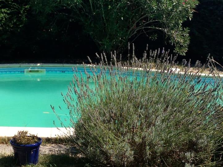 Maison avec grand jardin et piscine proche océan