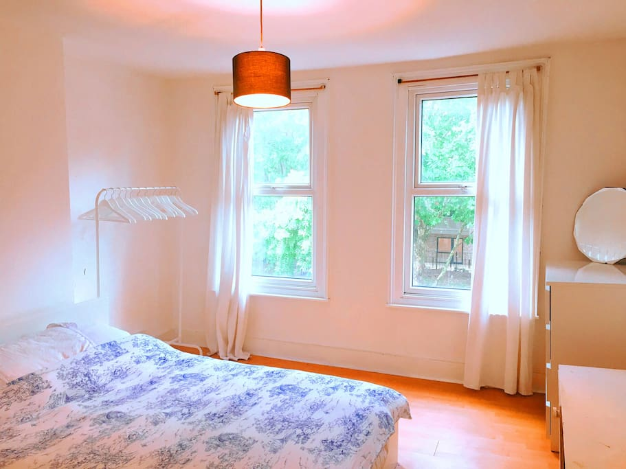 Bright large double bedroom