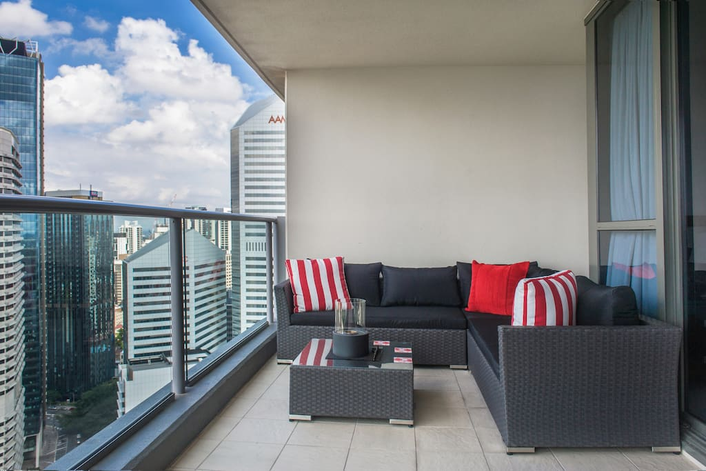 Outdoor lounge setting perfect for taking in the views!