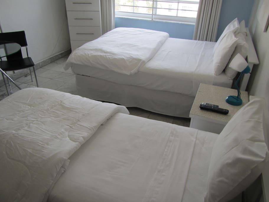 Queen Bed/Twin Bed