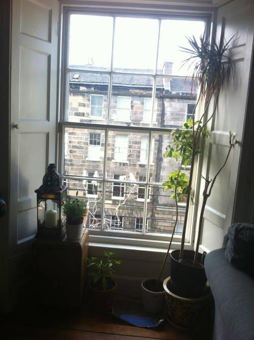 bright top floor apartment