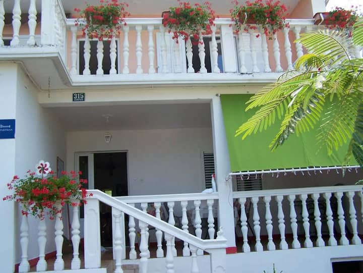 Two bedroom apartment with terrace and sea view Kampor, Rab (A-17396-a)